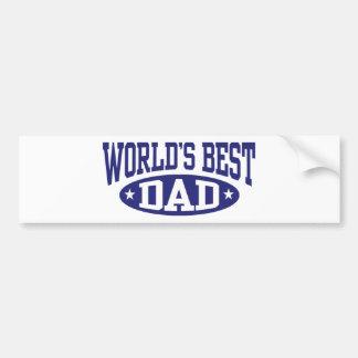 El mejor papá del mundo pegatina para auto