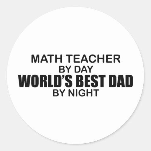 El mejor papá del mundo - profesor de matemáticas pegatina redonda