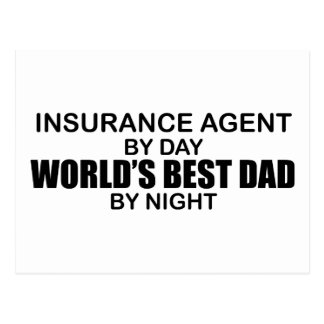 El mejor papá del mundo - seguro tarjeta postal