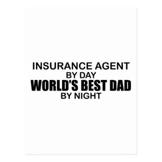 El mejor papá del mundo - seguro tarjetas postales