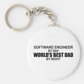 El mejor papá del mundo - Software Engineer Llavero Redondo Tipo Pin