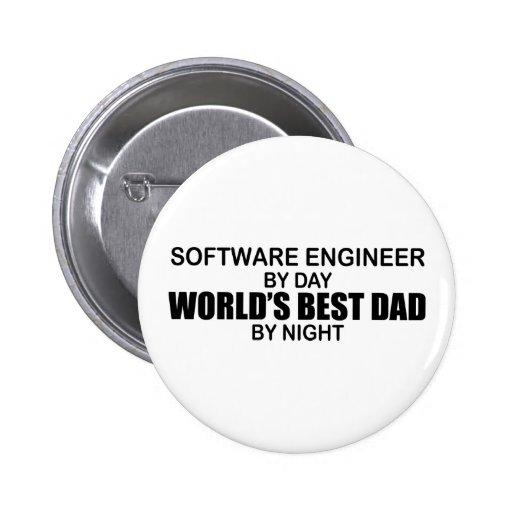 El mejor papá del mundo - Software Engineer Pin Redondo 5 Cm