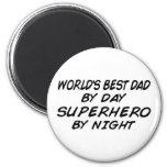 El mejor papá del mundo - super héroe imanes para frigoríficos