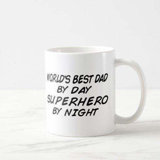 El mejor papá del mundo - super héroe tazas de café