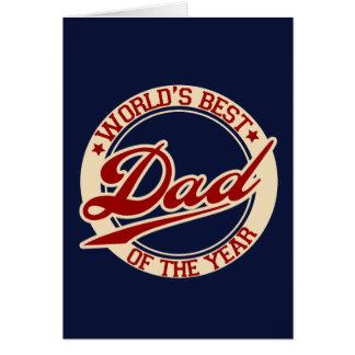 El mejor papá del mundo tarjeta