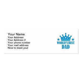El mejor papá del mundo tarjeta de negocio