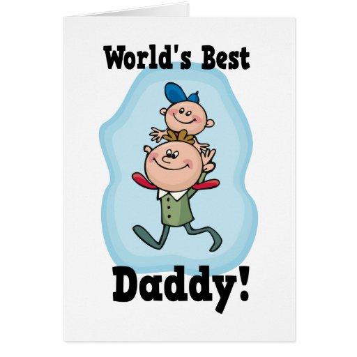 El mejor papá del mundo tarjeta de felicitación