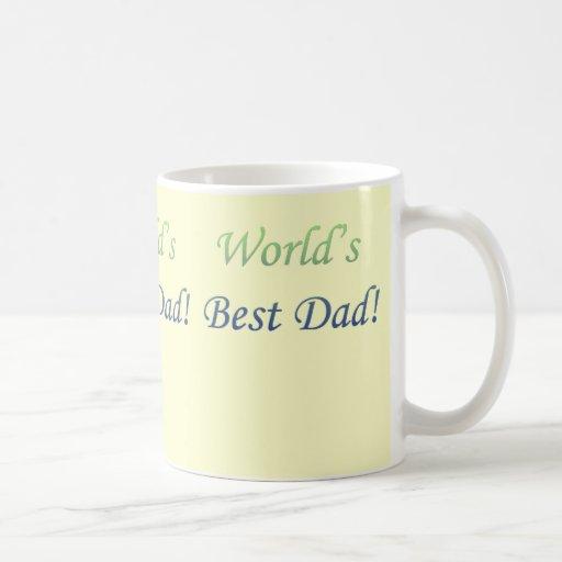 El mejor papá del mundo taza básica blanca