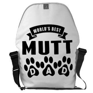 El mejor papá del Mutt del mundo Bolsa De Mensajería