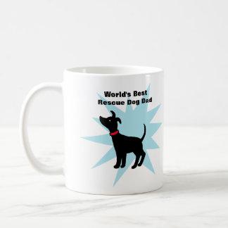 El mejor papá del perro del refugio de la taza del