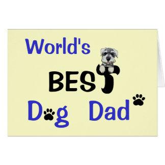 El mejor papá del perro tarjetón