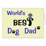 El mejor papá del perro tarjeta de felicitación