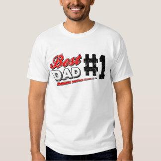 El mejor papá del vintage playera