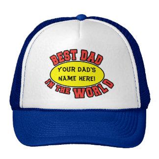 El mejor papá en el día de padre del personalizar  gorros