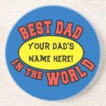 El mejor papá en el día de padre del personalizar  posavasos diseño