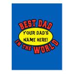 El mejor papá en el día de padre del personalizar postales