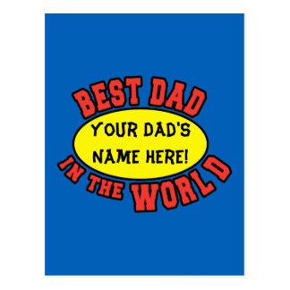 El mejor papá en el día de padre del personalizar postal