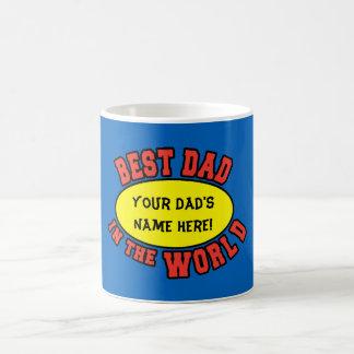 El mejor papá en el día de padre del personalizar taza clásica