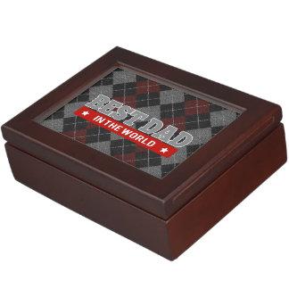 El mejor papá en el mundo Argyle modelado Caja De Recuerdos