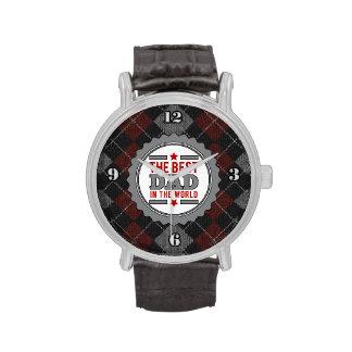 El mejor papá en el mundo Argyle modelado Relojes