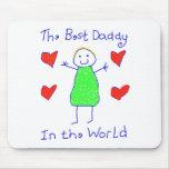 El mejor papá en el mundo tapetes de ratón