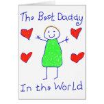 El mejor papá en el mundo tarjetón