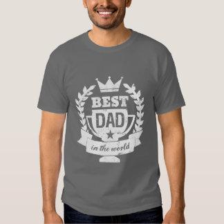 El mejor papá en la camiseta del día de padres del playeras
