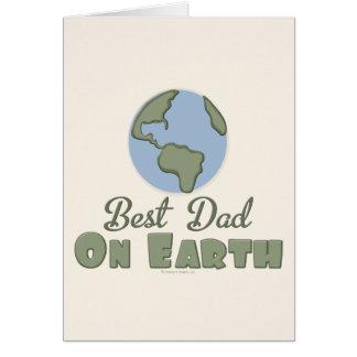 El mejor papá en tarjeta de felicitación de la tie
