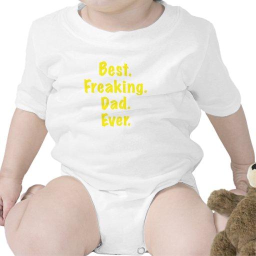 El mejor papá Freaking nunca Camisetas