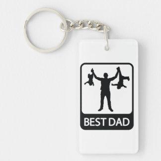 El mejor papá - llavero del día de padre