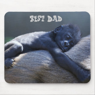 El mejor papá, mono del bebé que abraza el mono de tapetes de ratones