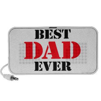 El mejor papá nunca notebook altavoces
