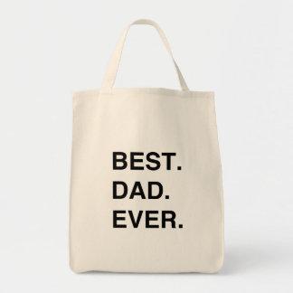 El mejor. Papá. Nunca Bolsa Tela Para La Compra