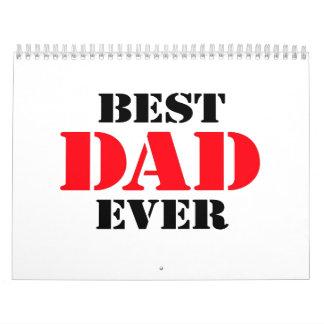 El mejor papá nunca calendario