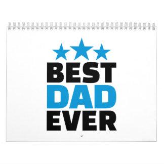 El mejor papá nunca calendario de pared
