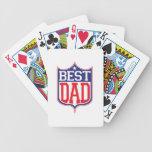 El mejor papá nunca cartas de juego