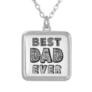 El mejor papá nunca collar personalizado