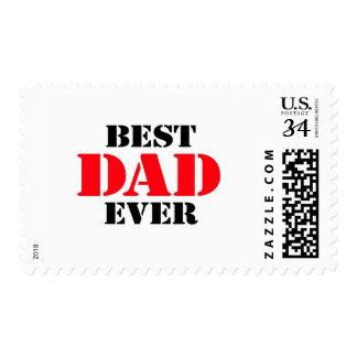 El mejor papá nunca estampillas
