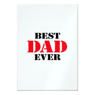 """El mejor papá nunca invitación 3.5"""" x 5"""""""
