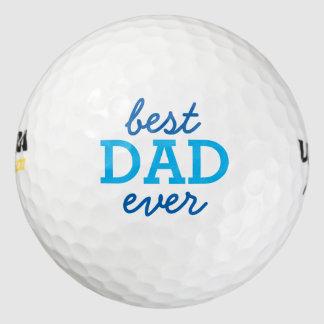 El mejor papá nunca pack de pelotas de golf