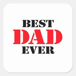 El mejor papá nunca colcomania cuadrada