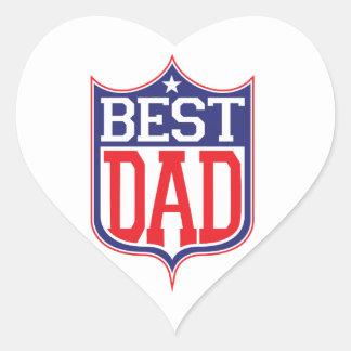 El mejor papá nunca calcomanía corazón personalizadas