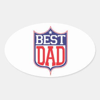 El mejor papá nunca pegatina ovalada