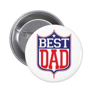 El mejor papá nunca pin redondo de 2 pulgadas