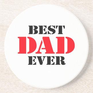 El mejor papá nunca posavaso para bebida