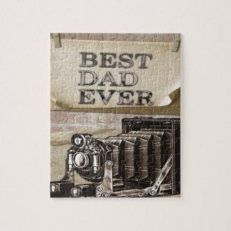 El mejor papá nunca puzzles con fotos