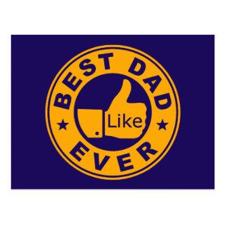 El mejor papá nunca postal