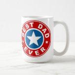 El mejor papá nunca taza de café