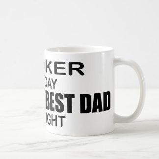 El mejor papá por noche - agente del mundo taza de café