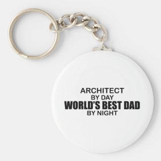 El mejor papá por noche - arquitecto del mundo llavero personalizado